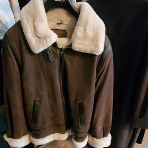 Saint John's Bay aviator style leather jacket